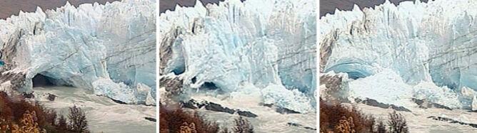 Zobacz, jak zapada się czoło lodowca