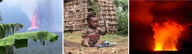 Afrykański smok zieje siarką i lawą