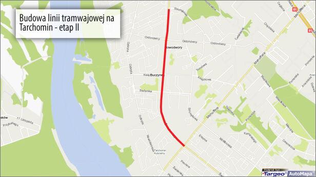 Planowana budowa torowiska targeo / graf. tvn24.pl
