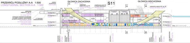 Stacja Powiśle i tunel Wisłostrady Metro Warszawskie