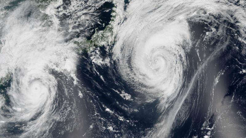 Tajfun Goni szaleje na zachodnim Pacyfiku (zdjecie z 24.08.2015)