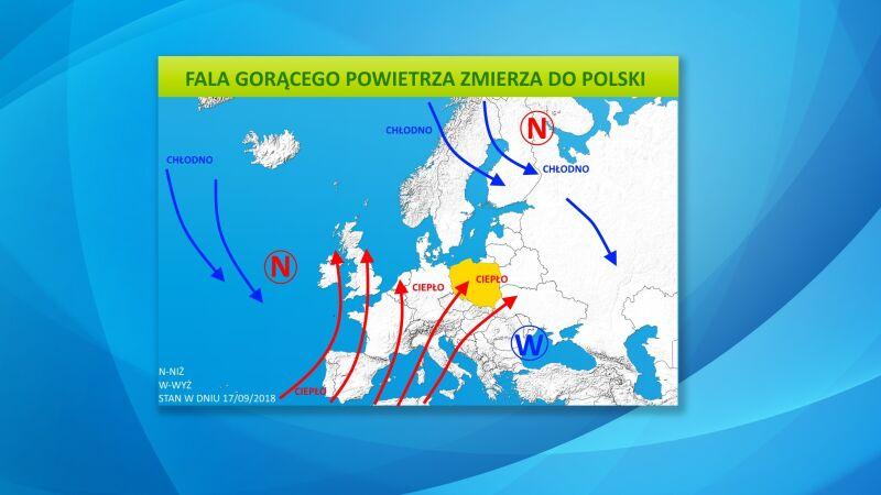 Fala gorącego powietrza zmierza do Polski