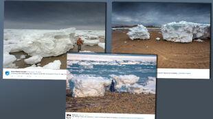 Miniatura Arktyki w Massachusetts. Bloki lodu wysokie jak ludzie wyrzucone na brzeg