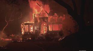 Pożar w Dolinie Napa