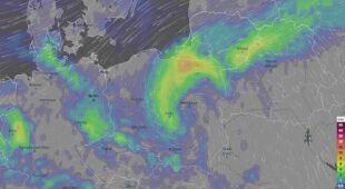 Prognoza opadów w najbliższych dniach (ventusky.com)